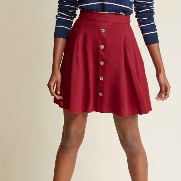 8112178712f ModCloth You Sassy Thing Skater Skirt
